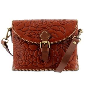 Spring Step Heartfelt Leather Crossbody Bag